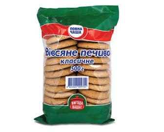 Печиво вівсяне класичне, Повна Чаша, 500 г